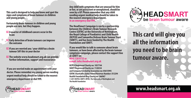 Headsmart - be brain tumour aware