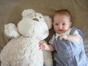 Harris with his teddy