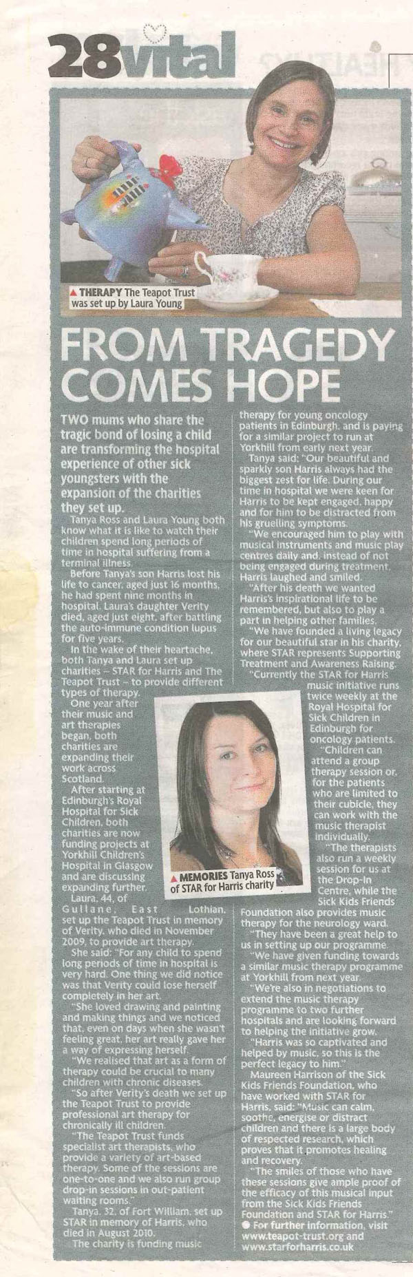 Harris - Daily Record 20 11 12